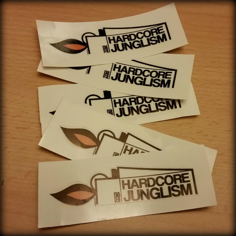 Stickers001 - Hardcore Junglism Stickers - 5 Pack