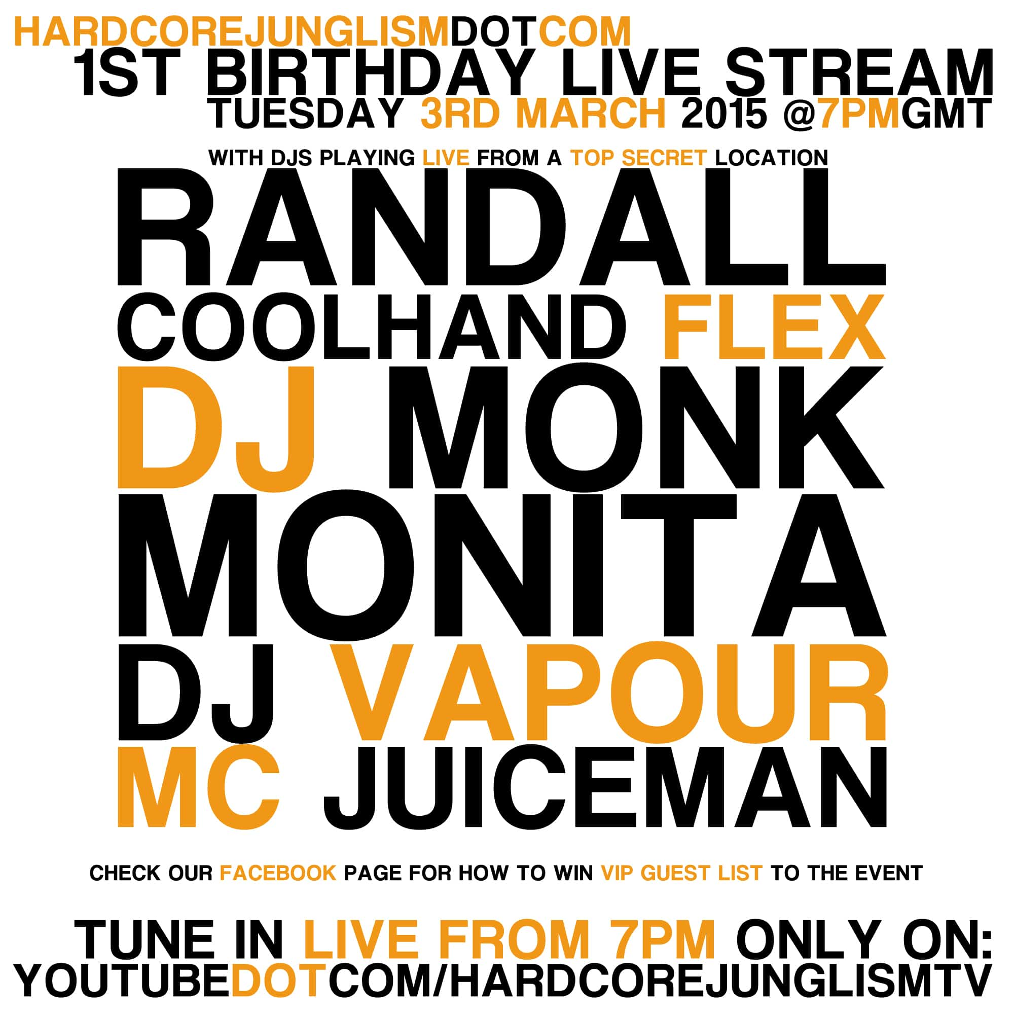 1st Birthday Sqaure flyer - 1ST Birthday Live Stream - Tuesday 3rd March