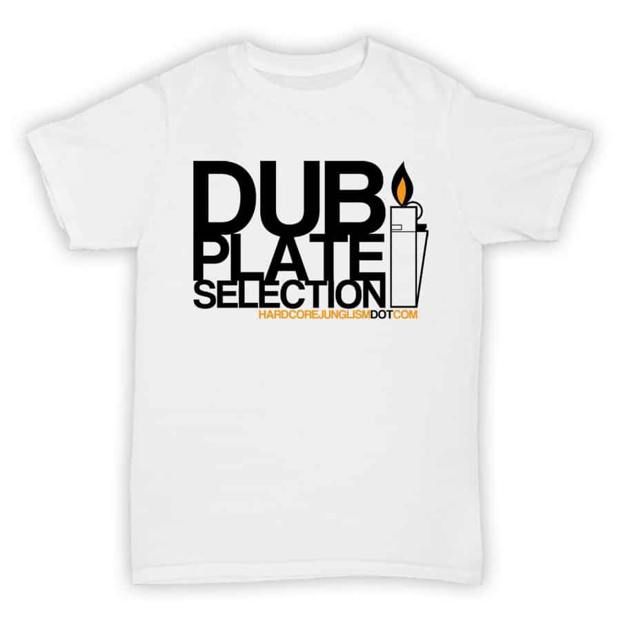Hardcore Junglism Exclusive T Shirt - Dubplate Selection - White With Black Print