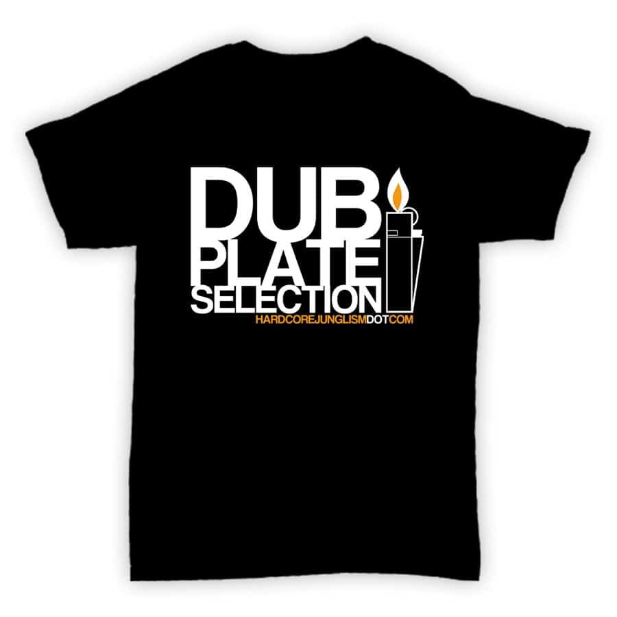 Hardcore Junglism Exclusive T Shirt - Dubplate Selection - Black With White Print