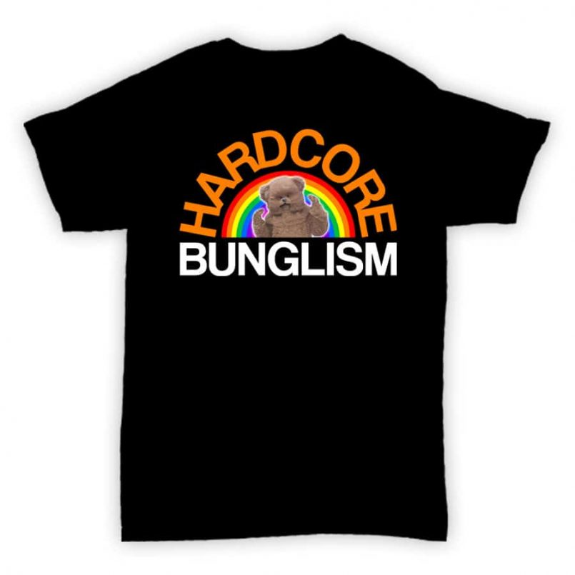 Hardcore Junglism Exclusive T Shirt - Hardcore Bunglism - Black WithFull Coloured Print