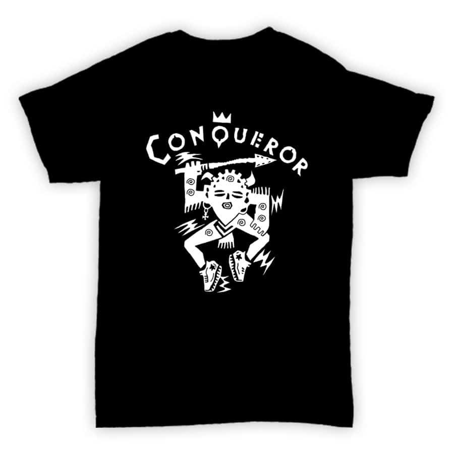 HJLabel T Conqueror Black MOCK 900x900 - T Shirt - Conqueror Records