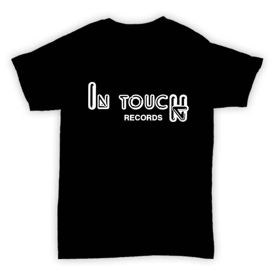 Record Label T Shirt - In Touch Records - Black With White Logo