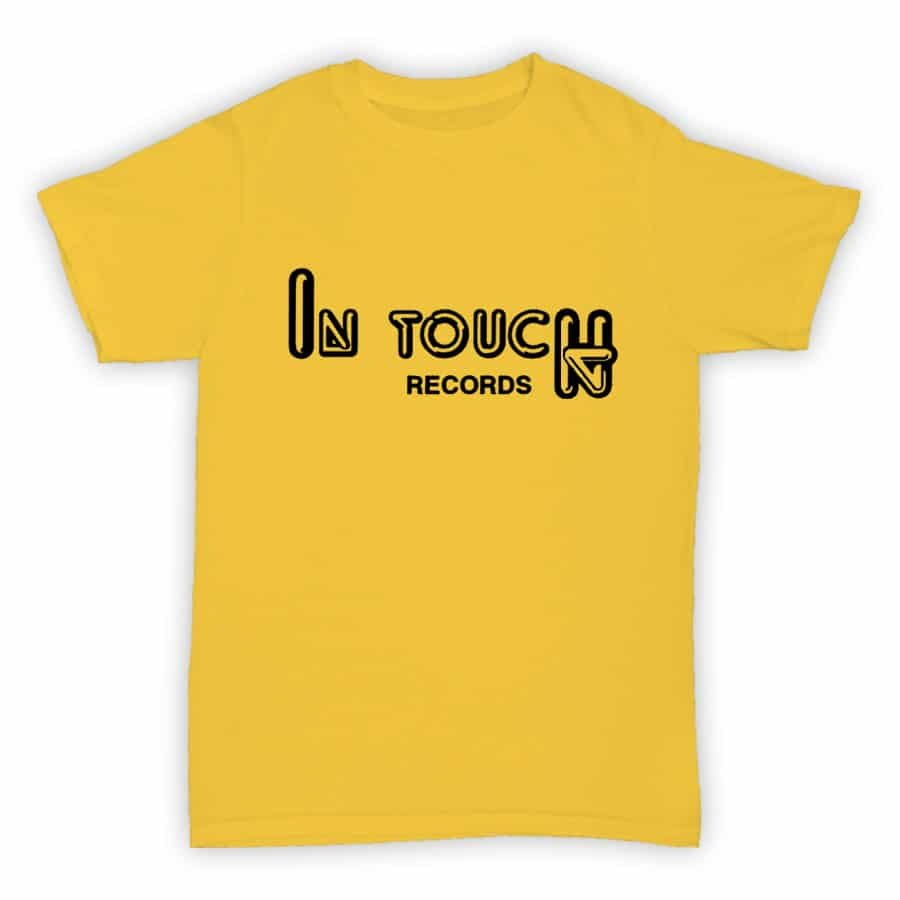 Record Label T Shirt - In Touch Records - Yellow With Black Logo