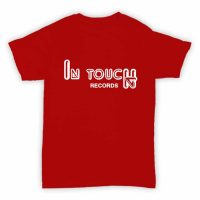 Record Label T Shirt - In Touch Records - Red With White Logo