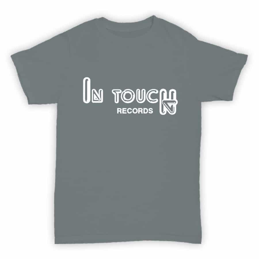 Record Label T Shirt - In Touch Records - Sports Grey With White Logo