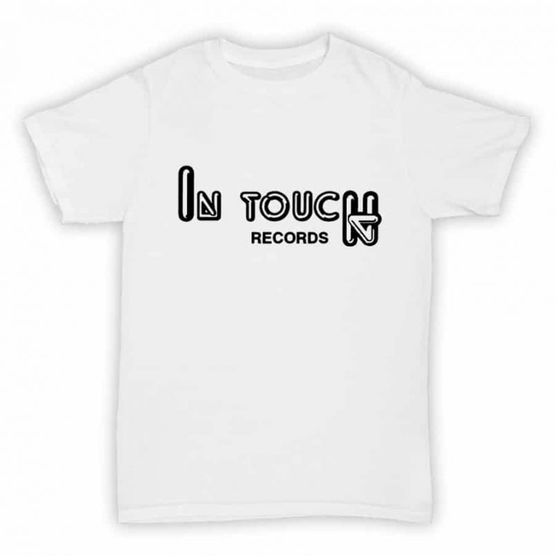 Record Label T Shirt - In Touch Records - White With Black Logo