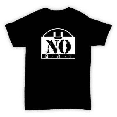 Record Label T Shirt - U No Dat - Black With White Printed Logo