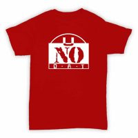 Record Label T Shirt - U No Dat - Red With White Printed Logo