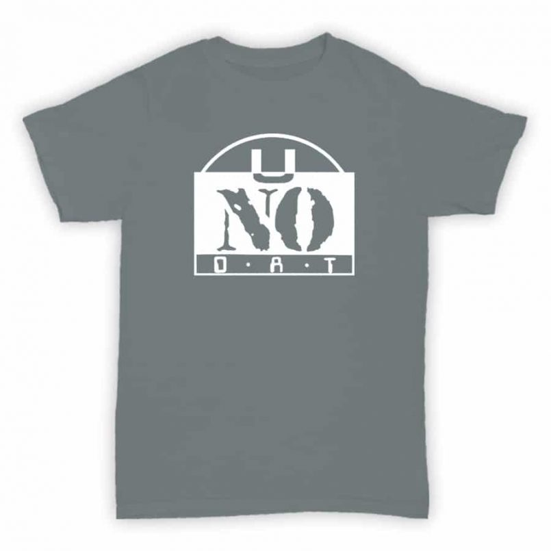 Record Label T Shirt - U No Dat - Sports Grey With White Printed Logo