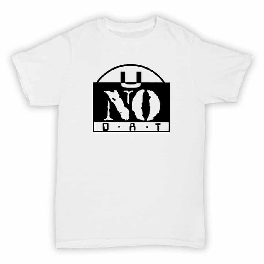 Record Label T Shirt - U No Dat - White With Black Printed Logo