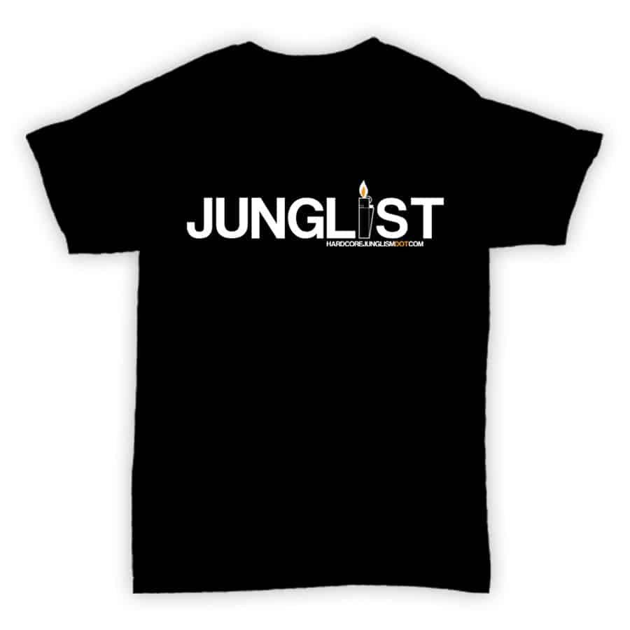 Hardcore Junglism T Shirt - Junglist - Black With White Print