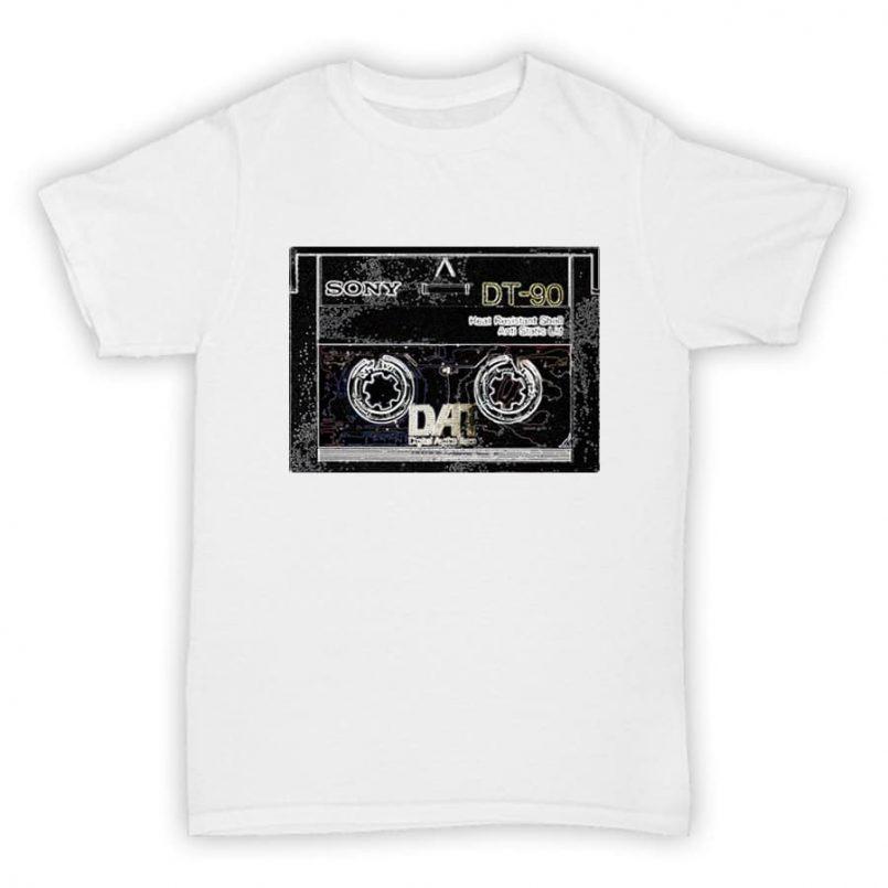 Hardcore Junglism T Shirt - DAT Cassette Tape - White