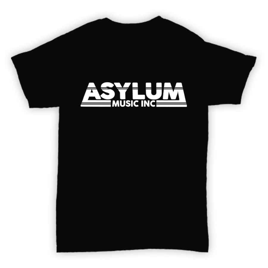 Asylum Music Inc - Record Label T Shirt - Black