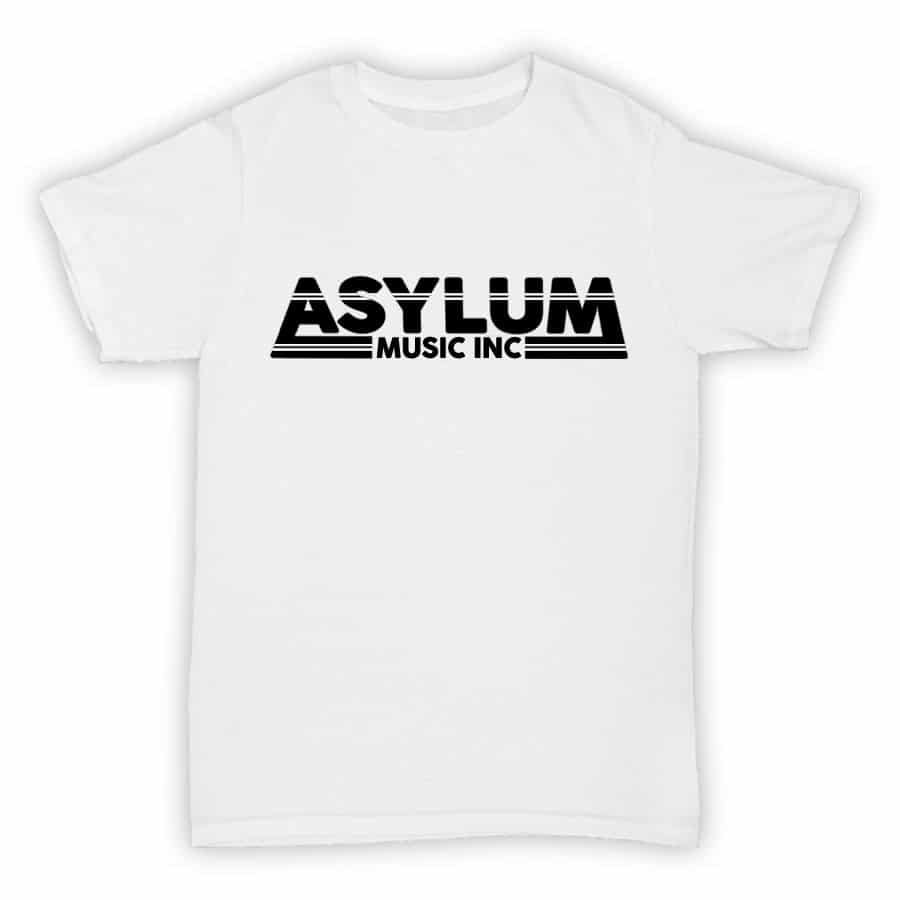 Asylum Music Inc - Record Label T Shirt - White