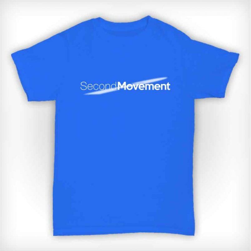 Second Movement T Shirt Heather Blue