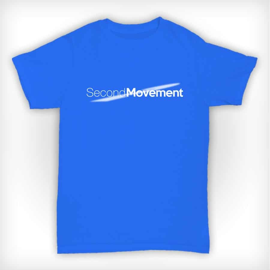 Second Movement T Shirt Heather Blue