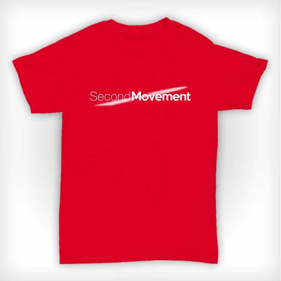 Second Movement T Shirt Red