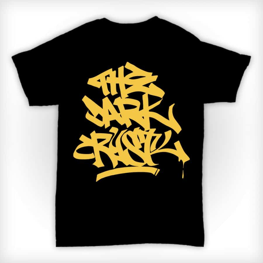 The Dark Crystl - Black T Shirt With Yellow Print