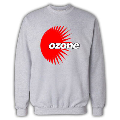 Ozone Recordings - Grey Sweatshirt With Red Logo