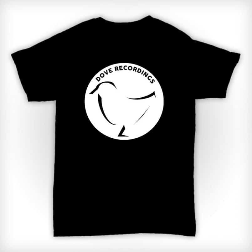 Dove Recordings - Old Skool Record Label T Shirt In Black