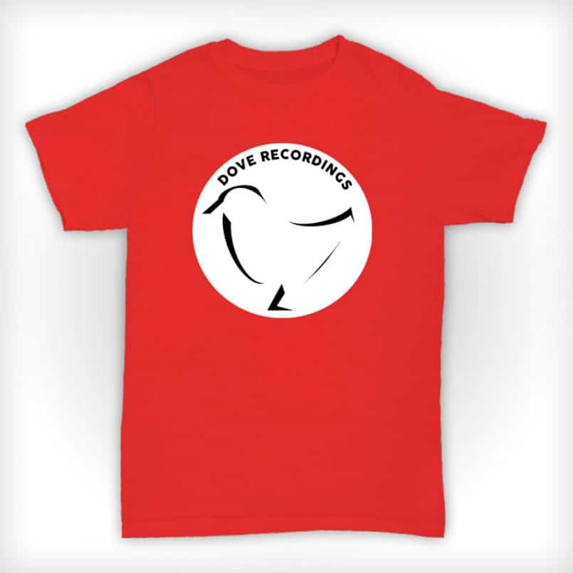 Dove Recordings - Old Skool Record Label T Shirt In Red