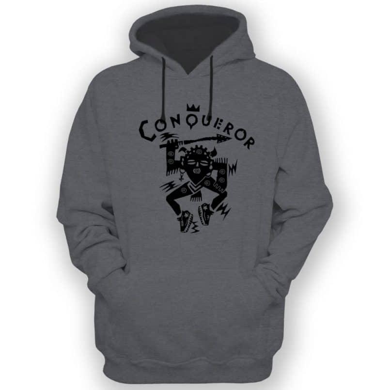 Conqueror Grey Hooded Sweatshirt